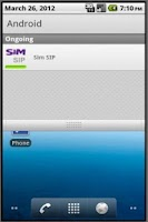 Screenshot of SimSIP Phone Client