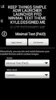 Screenshot of Minimal Text THEME - PAID