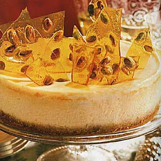 Pistachio Brittle Cheesecake.