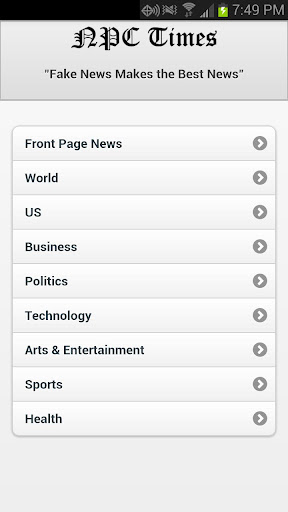 NPC Times News Reader