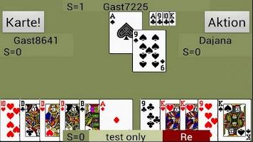 Screenshot of Doppelkopf live-doko
