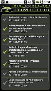 Blog do Android - screenshot thumbnail