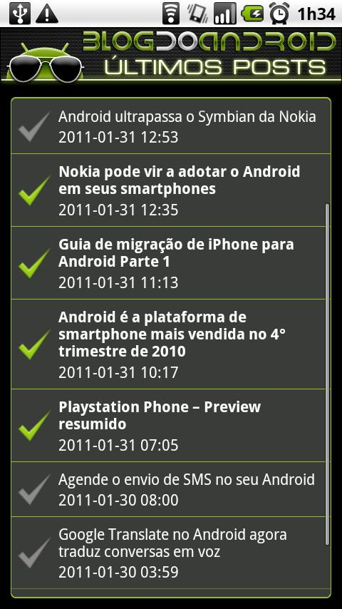 Blog do Android - screenshot