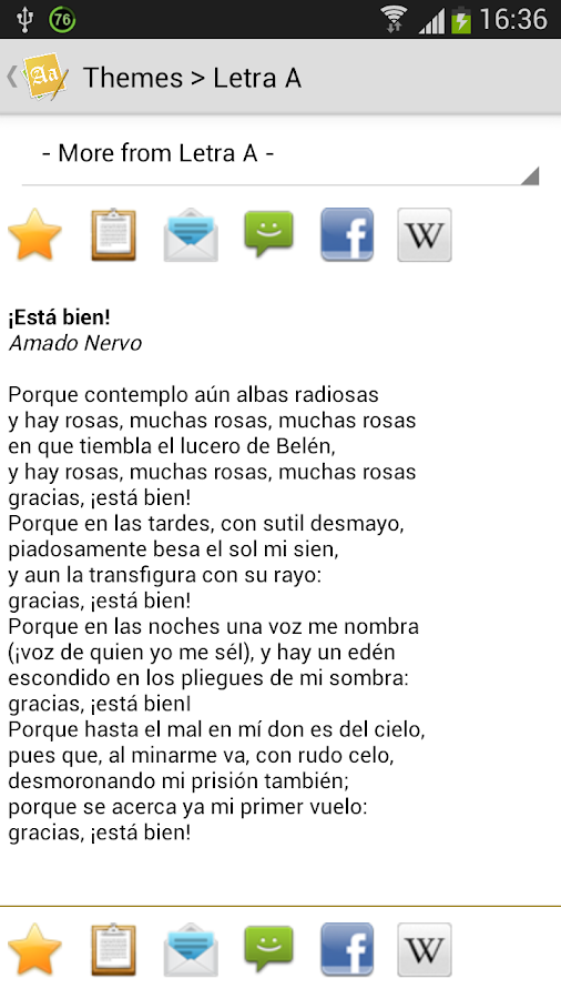 Todo Poemas Free (Spanish) - screenshot
