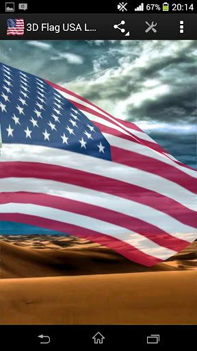 3D Flag USA LWP
