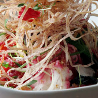 Singaporean Slaw Salad with Salted Apricot Dressing