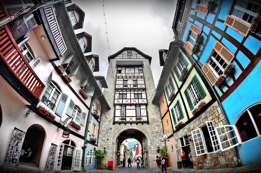 Colmar Tropicale In Berjaya Hill Resort  by Andy Teoh - Buildings & Architecture Other Exteriors ( building, berjaya hill  resort, external, berjaya hill resort, colmar, andyteoh photography )