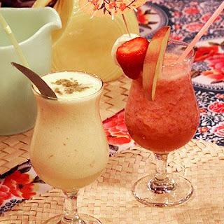 Banana Strawberry Peach Daiquiri.