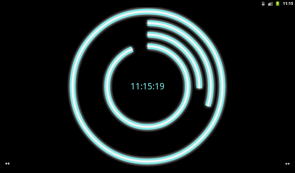 Neon Clock Live Free Wallpaper- screenshot