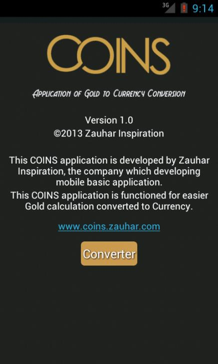 Coins(Gold Currency Converter)- screenshot