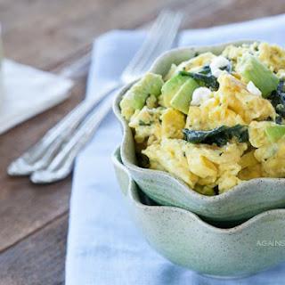 Avocado, Spinach, and ChèVre Scramble Recipe