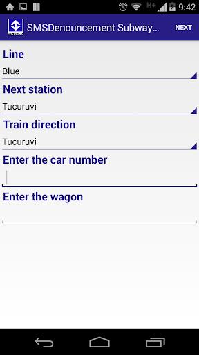 SMS Denouncement Metro SP