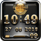 excali digital clock widget