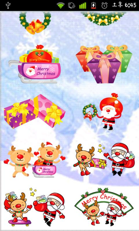 Christmas StickerWidget Second - screenshot