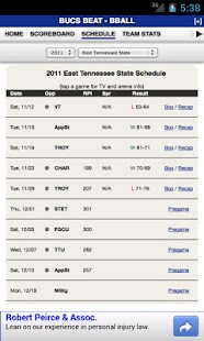 East Tennessee State Basketbal - screenshot thumbnail