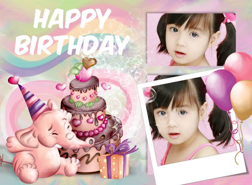Happy Birthday Frames Collage