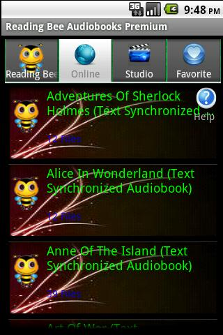 Text Synchronized Audiobooks - screenshot