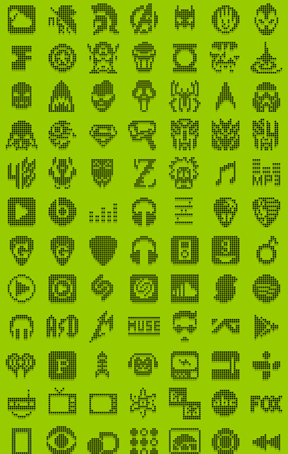 1-BIT BLACK Icon Theme- screenshot