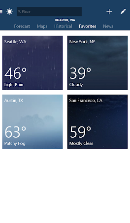 MSN Weather - Forecast & Maps 1.1.0 screenshot 18621
