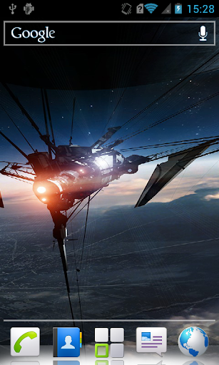 Spaceships Live Wallpaper