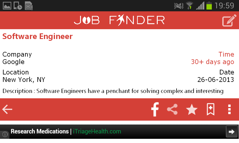 Job finder app - India jobs - screenshot