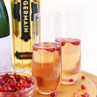St. Germain Pomegranate Spritzers.
