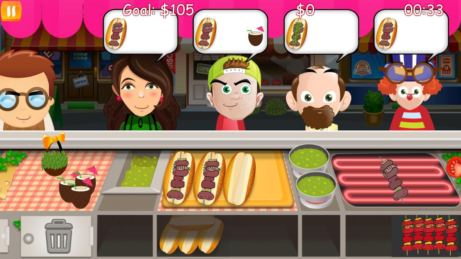 Game to cook - Burger Fever Cooking Game Screenshot