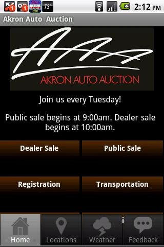 Akron Auto Auction - screenshot