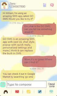 ZLOTUSLOVE GO SMS Theme - screenshot thumbnail