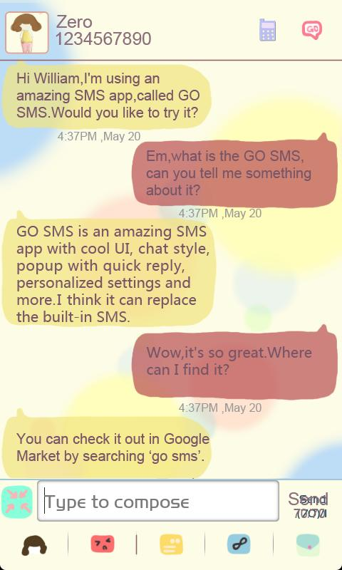 ZLOTUSLOVE GO SMS Theme - screenshot