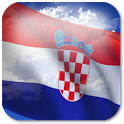 3D Croatia Flag + icon