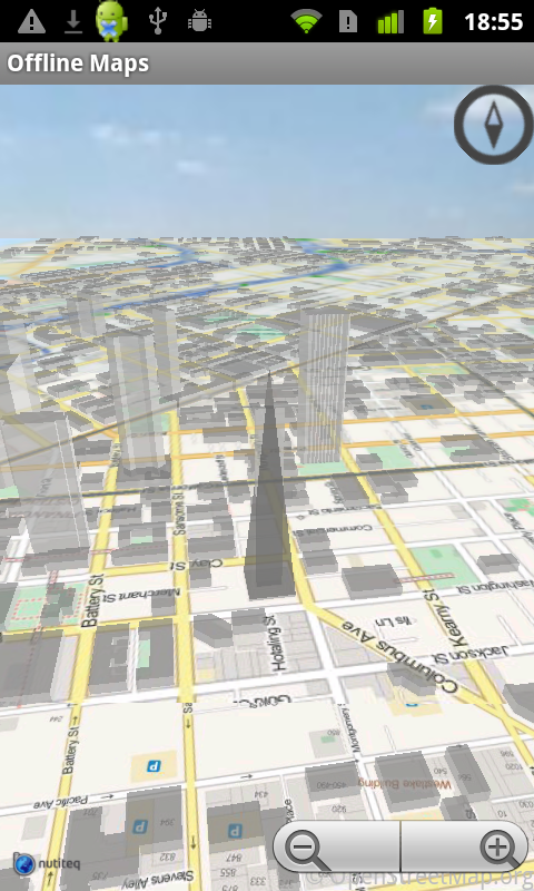 Offline Maps 3D - screenshot