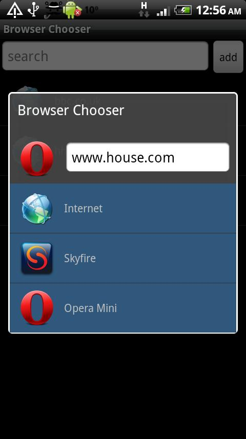 Browser Chooser Pro - screenshot