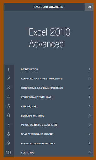 MS Excel 2010 Advanced