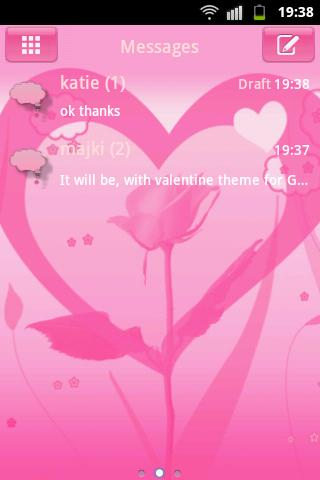 GO SMS Pro Theme Valentine- screenshot