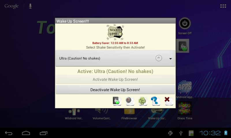 Wake Up Screen- screenshot