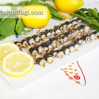 Baked Hamsi (Anchovy) Skewer.