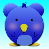 Cute Blue Bird Launcher Theme