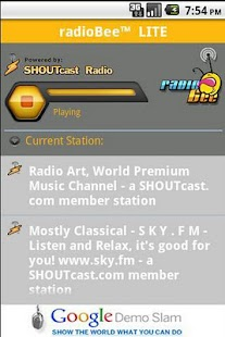 radioBee Lite - radio app- screenshot thumbnail