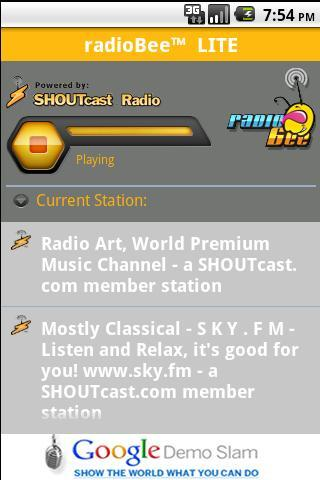 radioBee Lite - radio app- screenshot