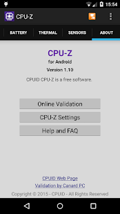CPU-Z - screenshot thumbnail