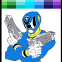 Hero Rangers Coloring book icon
