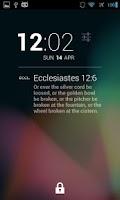Screenshot of DashClock Bible Ecclesiastes