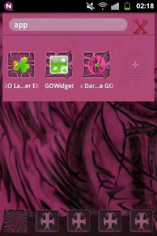 GO Launcher EX Theme Pink Emo - screenshot