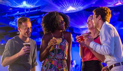 Disney Magic offers a wide range of nightlife options for guests, with live music, dance, games and activities. Lounges include the Fathoms nightclub, O'Gills Pub, Keys piano bar and Promenade Lounge, all on deck 3, and the adults-only Signals bar on deck 9.