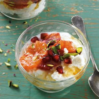 Ricotta with Blood Orange, Pistachio and Honey