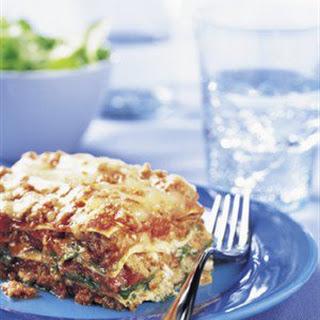 Beef, Spinach and Arugula Lasagna.