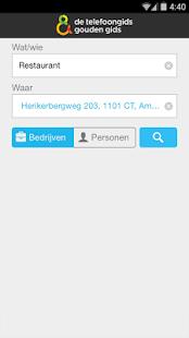 De Telefoongids - Zoek & Vind - screenshot thumbnail