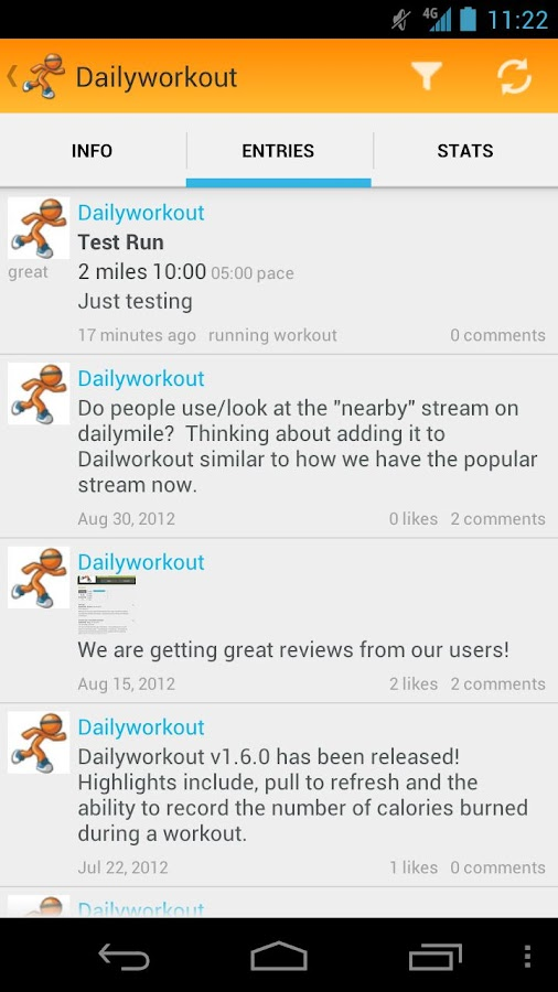 Dailyworkout- screenshot