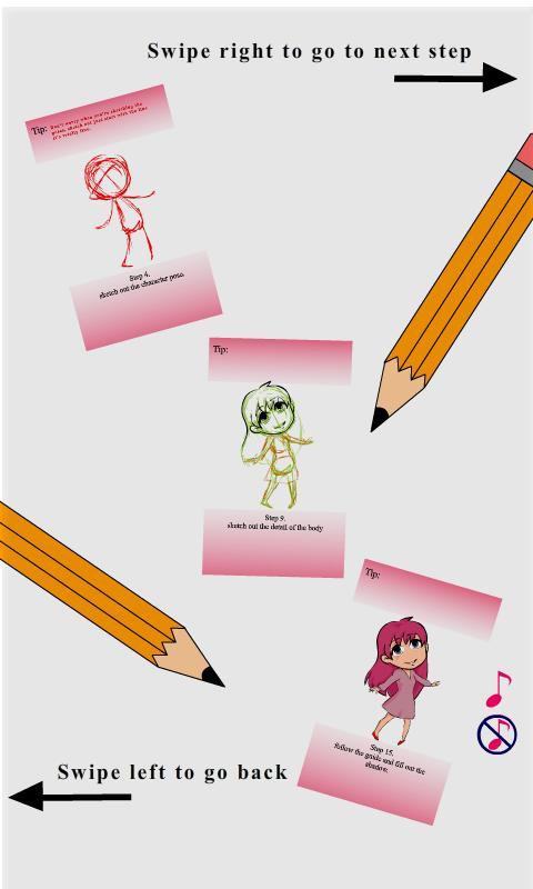 How to draw cartoon chibi girl - screenshot